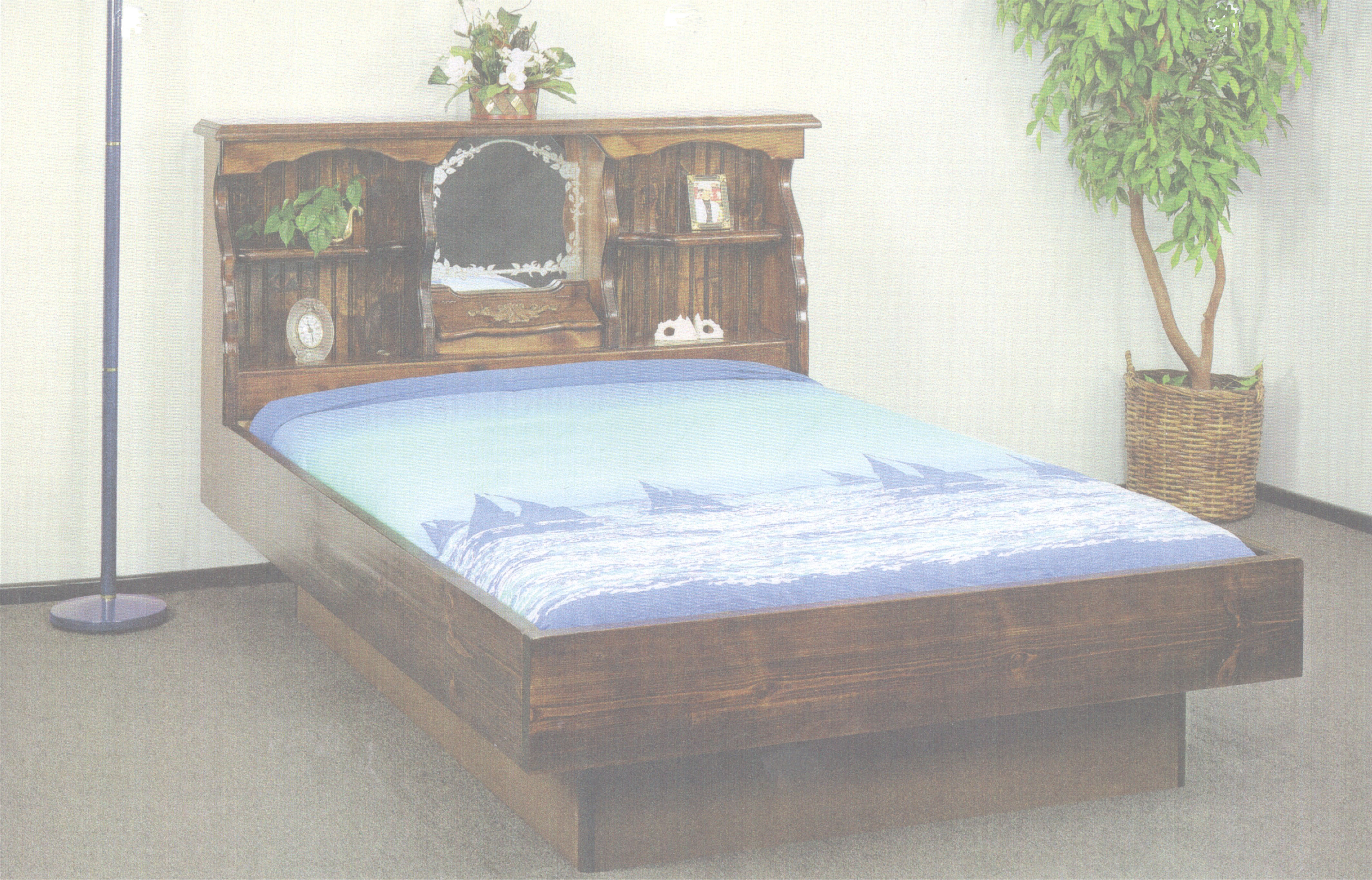how to build a waterbed pedestal