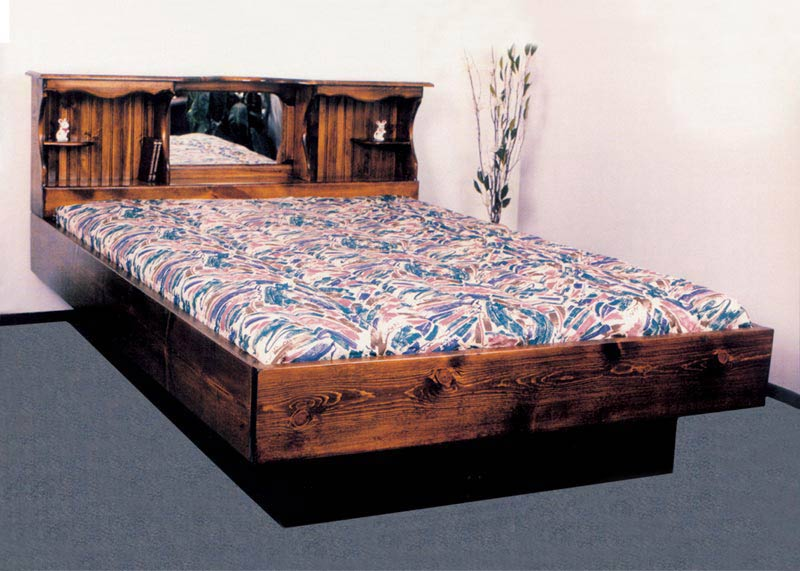 Waterbed Monarch I Complete Hb Fr Deck 6d Ped K King Pine